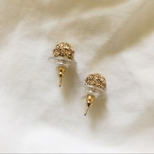 Stella & Dot gold disco ball stud earrings